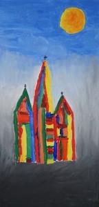 Die drei Kirchtürme stehen für unsere Kirchorte Herzlake, Dohren u. Westrum.