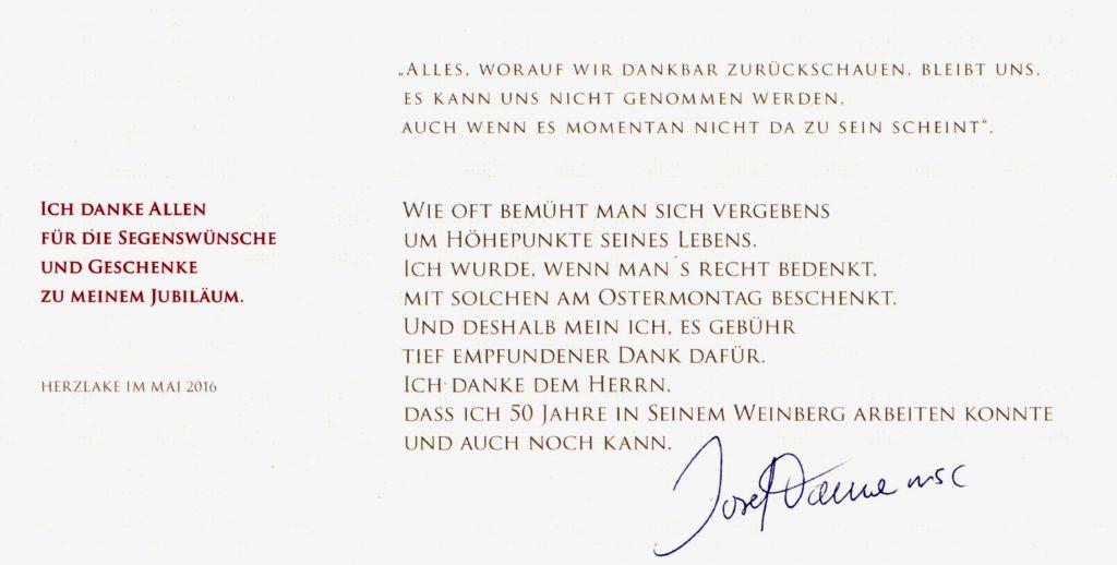 Danksagung P. Danne