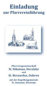 Einladung Pfarrereinführung